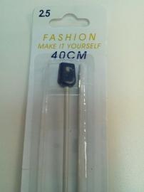breinaalden 40 cm 2.5 mm