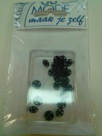 Drukknopen 7 mm zwart