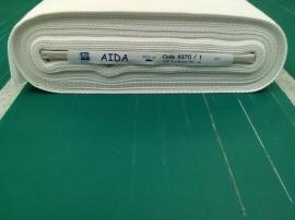 Aida stof per cm x 1,50 m wit