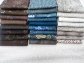 Pakket 3 Groen/blauw-bruin-beige-room