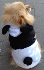 Honden Fleece Jas Panda  - Medium - Ruglengte 30 cm - In Voorraad