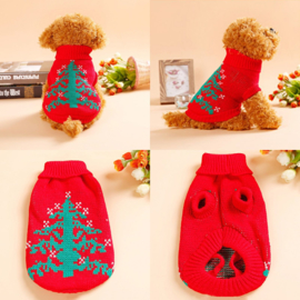 Honden Kerst trui - Maat XS - Ruglengte 20 cm - In Voorraad