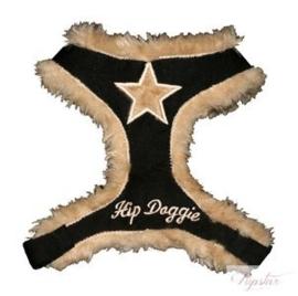 Hondentuigje Hip Doggie Zwart - XL - Borstomvang 53-76 cm - IN VOORRAAD