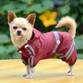 Honden regenpak Traffic Rood  - Large - 31-33 cm -In Voorraad