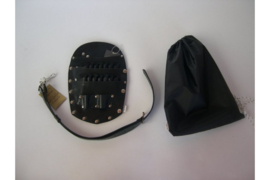 Nakovski scharenholster  zwart - Echt Leer - Gratis Verzending