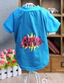 Hondenshirt Barbie Blauw -Small - Ruglengte 20 cm - In Voorraad