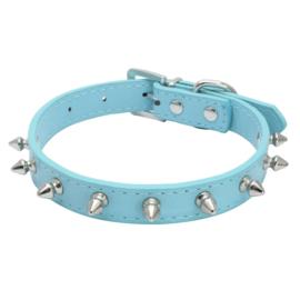 Hondenhalsband Spikes blauw - XS - Nekomvang 21-27 cm - In Voorraad