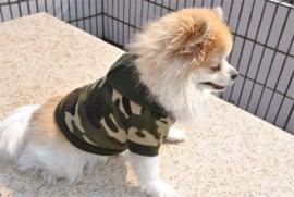 Honden fleece trui Camouflage L