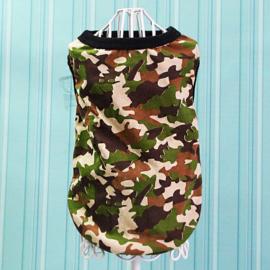 Honden Shirt Camouflage Grote Hond Bruin Beige - Maat 2XL - Ruglengte 45 cm - In Voorraad