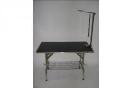 Trimtafel verstelbaar 60x110 van RVS inclusief trimarm, lus en mandje onder tafel