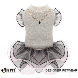 IsPet Dress ballet Grijs - Medium-Ruglengte 27-30 cm - In Voorraad