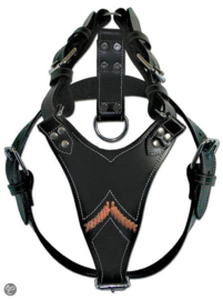 Hondentuigje Doxtasy  Zwart Gladiator Black/Zilver