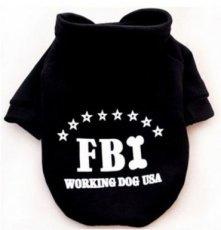 Hondentrui FBI Zwart - Maat XXL - Ruglengte 40 cm - In Voorraad