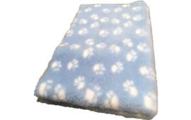 Vet bed Licht blauw met witte voetprint