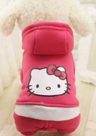 Hondenpakje Roze Cartoon - Maat XS - Ruglengte 20 cm - In Voorraad