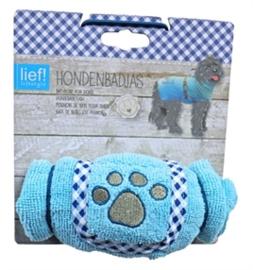 LIEF Hondenbadjas Blauw 6 Maten