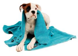 Show Tech Handdoek  Voor Honden En Katten 56x90 cm  Blauw- Microfibre Handdoek