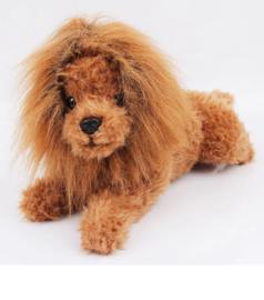 Pruik voor kleine hond - Large Nekomvang 36 cm - IN VOORRAAD