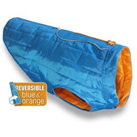 Hondenjas Kurgo Loft Thermal Jas Blauw/ Oranje - Maat XL- Ruglengte 69 cm - In Voorraad