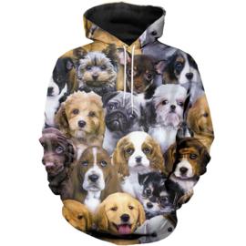 Sweather met hondenprint XS t/m 7 XL