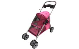 Hondenbuggy 4 wielen Roze  94 x 46 x 91,5 cm - MAX 10 KG- Gratis Verzending