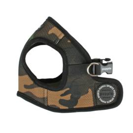 Puppia Soft Vest Harnas Camouflage  XS t/m XL - Gratis Verzending