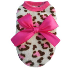 Hondentrui Leopard Roze S