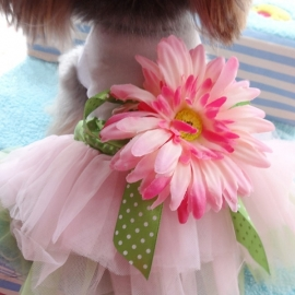 Hondenjurk Flower - Medium -  - Ruglengte 25 cm - In Voorraad