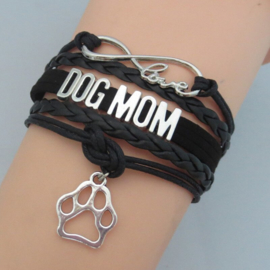 Armband Dog Mom Zwart - IN VOORRAAD