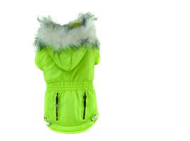 Honden jas Color Groen - Medium - Ruglengte 27-29 cm - In Voorraad