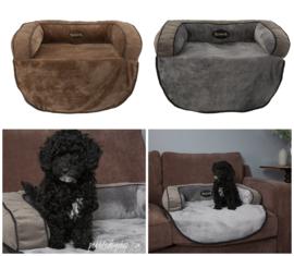 Hondenmand Scruffs  Chester Sofa Bed Chocolade Bruin & Grijs - Gratis verzending