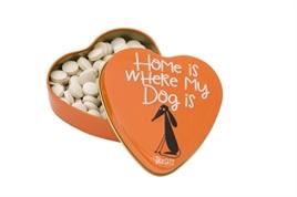 SANAL HARTEN BLIK HOME IS WHERE MY DOG IS SNOEPJES 60 GR / UITVERKOCHT
