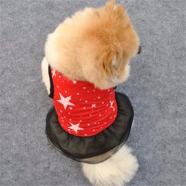 Hondenjurk rood Red star - Large -Ruglengte 34 cm - In Voorraad