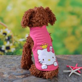 Hondenshirt Roze Kitty - Maat XS - Ruglengte 20 cm - In Voorraad