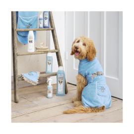 LIEF Hondenbadjas blauw M
