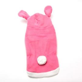 Hondenjas Roze Bunny - Medium - Ruglengte 28 cm - In Voorraad
