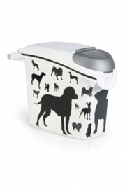 CURVER VOEDSELCONTAINER OPDRUK HOND SILHOUETTE STAPELBAAR 15 LTR