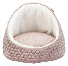 Hondenmand IGLO LIVIA roze -creme  45X45X33 CM - Gratis Verzending/ UITVERKOCHT/ VERWACHT 12 MAART