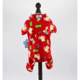 Honden Pajama Rood - Small - Ruglengte 25 cm - In Voorraad