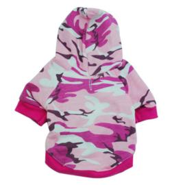 Hondentrui Roze Camouflage zonder Capuchon - Maat XS - Ruglengte 20 cm - In Voorraad