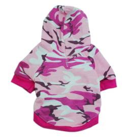 Hondentrui Camouflage Roze -Medium - Ruglengte 27-30 cm -In Voorraad