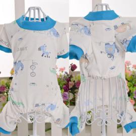 Hondenpyjama blauw Giraffe - Small - Ruglengte 20-22 cm - In Voorraad