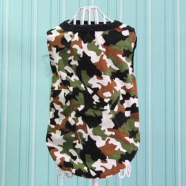 Honden Shirt Camouflage Grote Hond Wit Groen  2XL, 3XL, 4XL,5XL,6XL