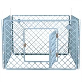 Puppyren Blauw 4 panelen 90x90x60 cm - Gratis Verzending
