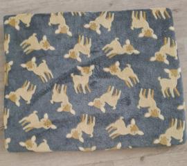 Hondenkussen Wellness Fleece grijs 70x55 cm - IN VOORRAAD