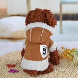 Hondenjas Fashion 5 Bruin - Large - Ruglengte 34 cm - In Voorraad