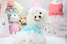 Hondenjas met Tutu Happy Doggie Blauw SMALL - Ruglengte 25 cm -In Voorraad