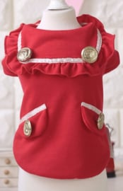 Hondentrui Petstyle Fabienne Rood - Medium -Ruglengte 30 cm - In Voorraad