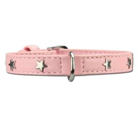Doxtasy Hondenhalsband Twinkle Little Star Baby Pink- XXXS - Nek  13,5 - 17,5 cm -IN VOORRAAD