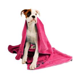 Show Tech Handdoek  Voor Honden En Katten 56x90 cm  Roze- Microfibre Handdoek